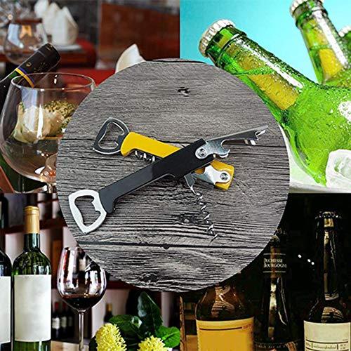 HoganeyVan Multifuncional PP mango de pl/ástico abridor de vino de acero inoxidable cerveza abridor Durable Home Kitchen Tool regalo empresarial