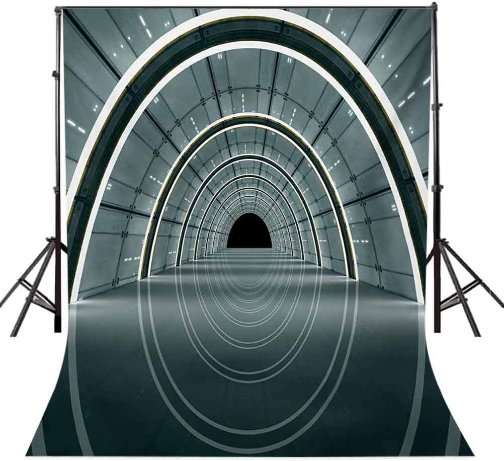Science Fiction Theme 3D Design Futuristic Corridor Technologic Image Print Background for Child Baby Shower Photo Vinyl Studio Prop Photobooth Photoshoot Outer Space 6x8 FT Photography Backdrop