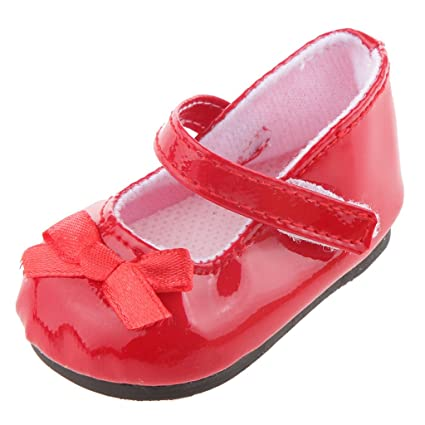 ca514123a6263 MagiDeal Fashion Red Shoes for American Girl Doll