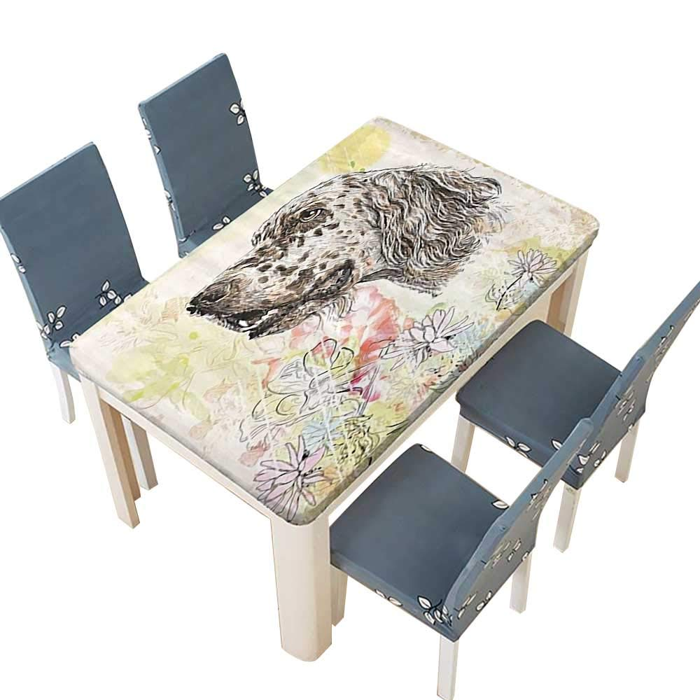 PINAFORE ジャカードポリエステル生地テーブルクロス かわいい犬 夏 & 屋外ピクニック 幅25.5×長さ65インチ(絶縁) W41