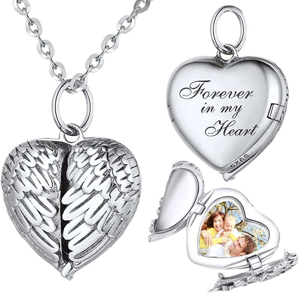 Custom Photo Locket Necklace Personalized Lockets For Mother/'s Day Gifts Sterling Silver Locket Mothers Day Gift From Son Daughter