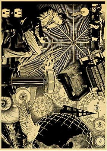 PWERWOTAM Famoso Inventor Nikola Tesla Poster Kraft Papel de ...