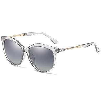 WHCREAT Clásico Moda Gafas De Sol Polarizadas Para Mujer Cat-Eye Estilo UV400 Lente de Protección Lente Gradiente (Lente Espejada Disponible)