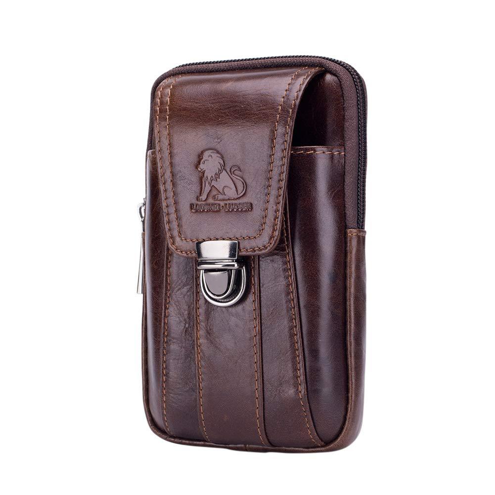 Genda 2Archer Leather Waist Hook Belt Pack Cell Phone Pouch