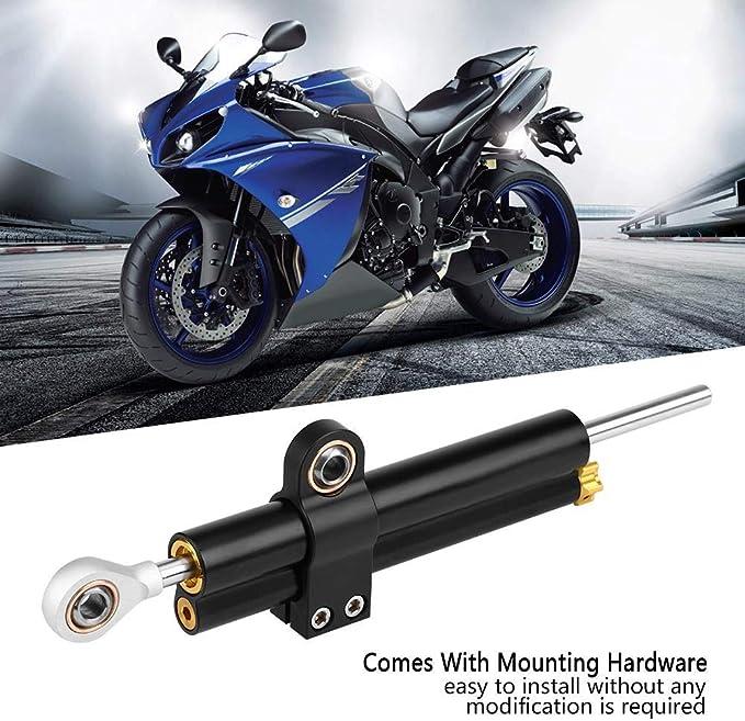 Ebtools Lenkungsdämpferhalterung Universal Motorrad Cnc Einstellbare Lenkungsdämpfer Stabilisator Halterung Auto