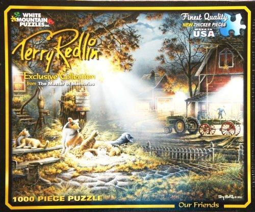 Terry Redlin The Master of Memories OUR FRIENDS 1000 NEW THICKER Pieces Jigsaw Puzzle MADE IN USA PUZZLE