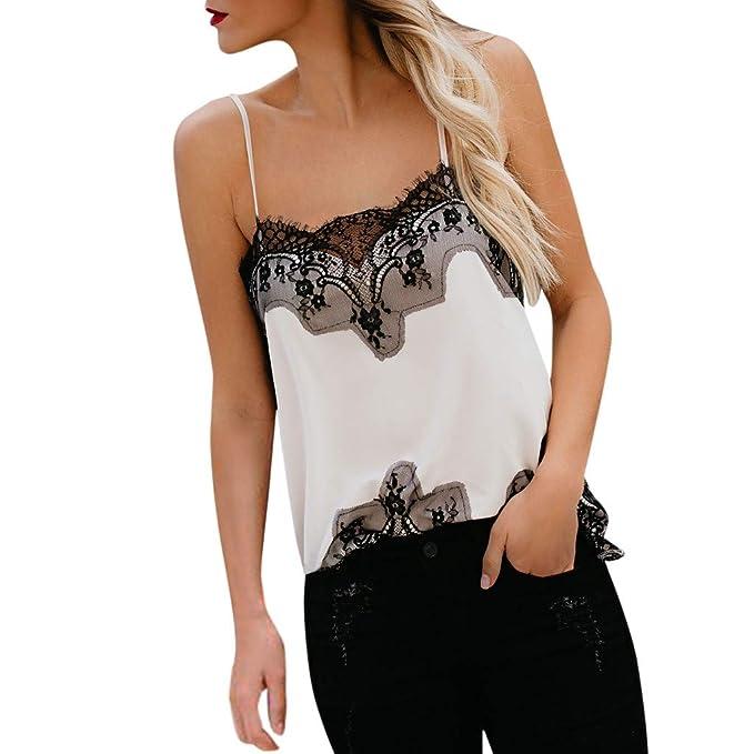 Dragon868 Canotte Donna con Pizzo Stampa Leopardate Sexy Camicie Senza  Maniche Bianco Camicetta Elegante Camis  Amazon.it  Abbigliamento 684637399cd