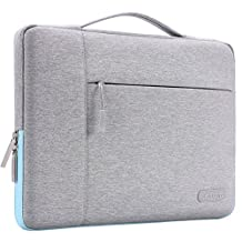 Mosiso Polyester Fabric Multifunctional Sleeve Briefcase Handbag Case Cover for 13-13.3 Inch Laptop, Notebook, MacBook Air/Pro, Gray&Hot Blue