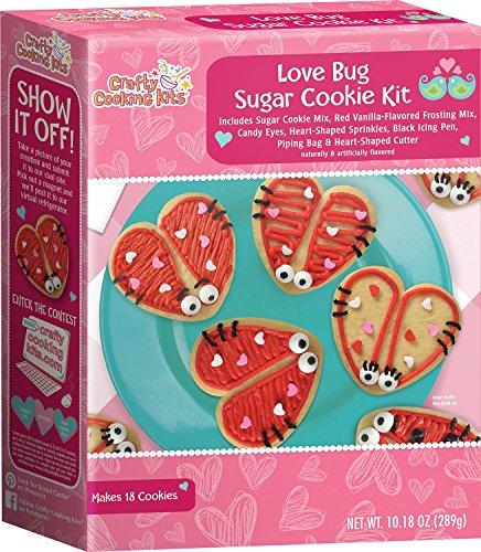 Brand Castle Love Bug Sugar Cookie Kit, Makes 18 (Valentine Sugar Cookies)