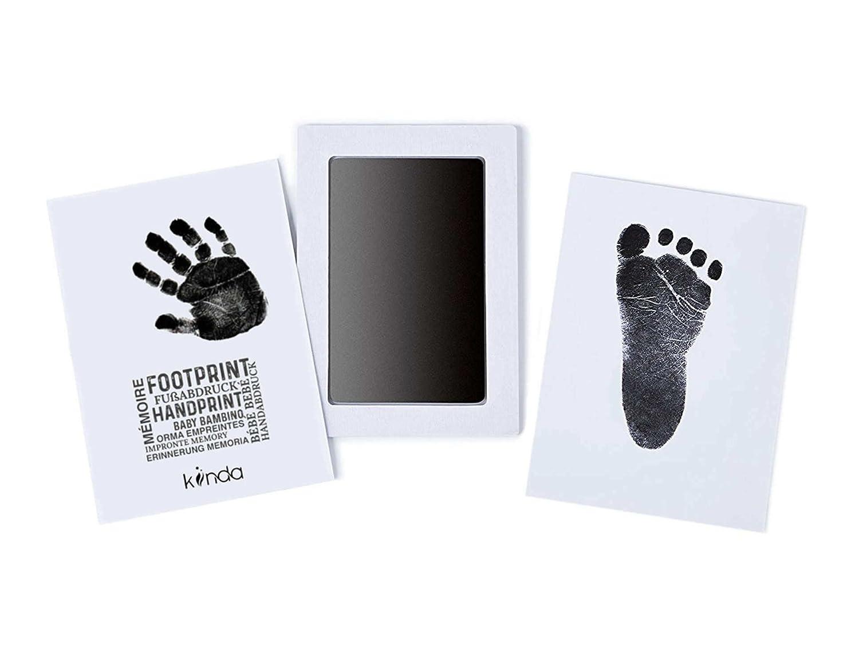 BebéClean Touch huella de la mano o la huella - almohadilla de tinta   Seguro para bebés - sin contacto con la piel   de kiinda (azul)