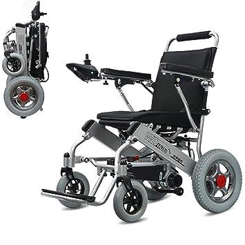 Wheel-hy Silla de Ruedas eléctrica Plegable, Anciano ...