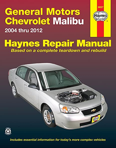 amazon com chevrolet malibu haynes repair manual 2004 2010 rh amazon com 2008 chevy malibu repair manual chevy malibu repair manual