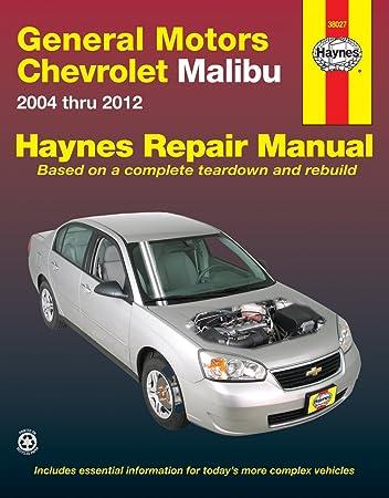 amazon com chevrolet malibu haynes repair manual 2004 2010 rh amazon com 2005 Chevy Malibu Exhaust System Diagram 2001 chevy malibu repair manual