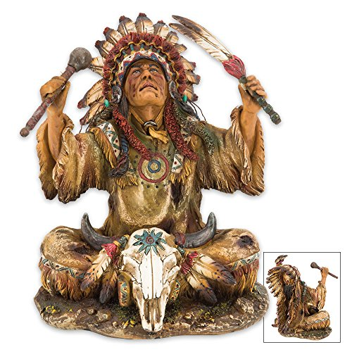 K EXCLUSIVE Native American Chief Resin Sculpture