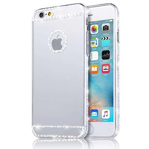 17 opinioni per Sunroyal® iphone 6 plus 6S plus Cover, Bling Strass Transparent Custodia