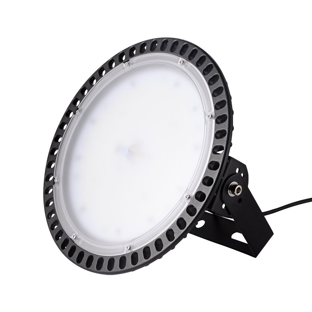 100W LED Industrial Chandelier, Ultra-Thin UFO LED High Bay Light,Spotlights for Workshops,Warehouse and Factories,Waterproof IP54, 10000LM 6000-6500K AC220-240V (100W) Shinning-star