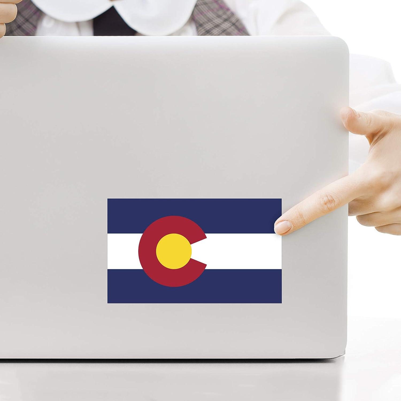 Check6 Colorado Flag Bumper Sticker 2-Pack 3x5