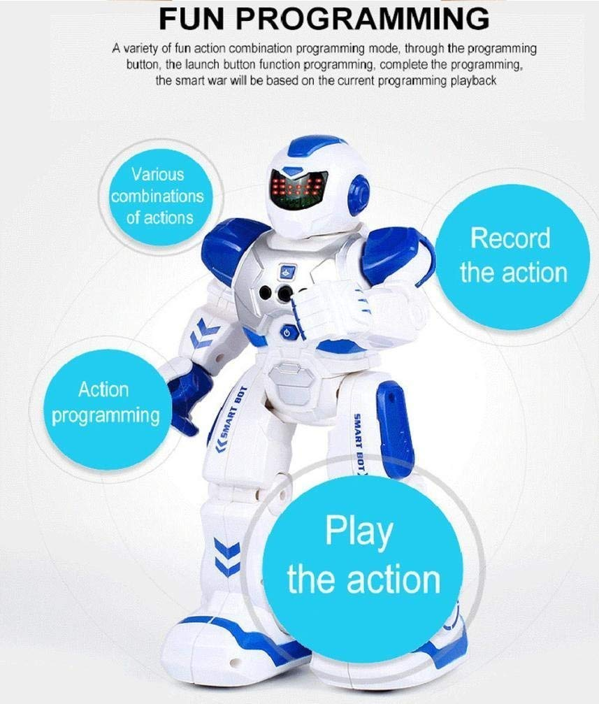 Elemusi Remote Wireless Control Robot for Kids Toys,Smart Robots with Singing,Dancing,Gesture Sensing Entertainment Robotics for Children (Blue) by Elemusi (Image #3)