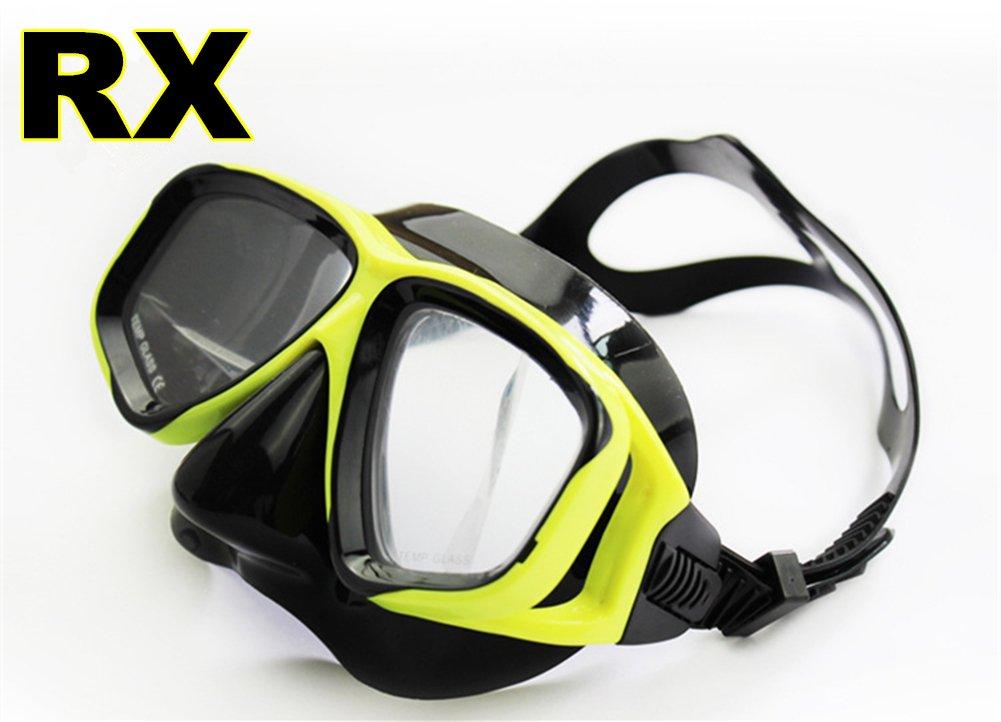 YEESAM ART Diving Snorkeling Prescription Mask Nearsighted Myopia Scuba Dive Snorkel Mask Nearsighted Prescription RX Optical Corrective Lenses Customized Diving Mask Prescription