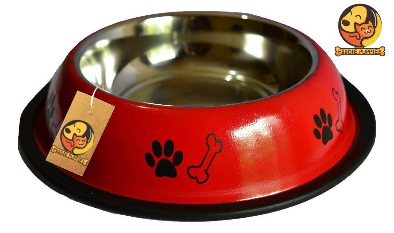 Foodie Puppies Stainless Steel Dog Food Bowl (Medium) product image
