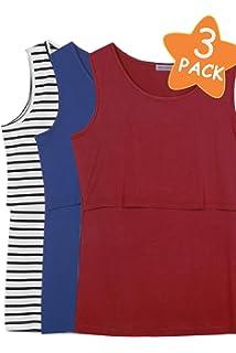 dc669ee9c5b58 Smallshow Women s Sleeveless Maternity Nursing Tank Tops Breastfeeding  Clothes