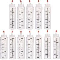 12 stuks Squeeze fles kruiderij dispenser met doppen 250 ml plastic salade dressing flessen Squeezy saus flessen voor…