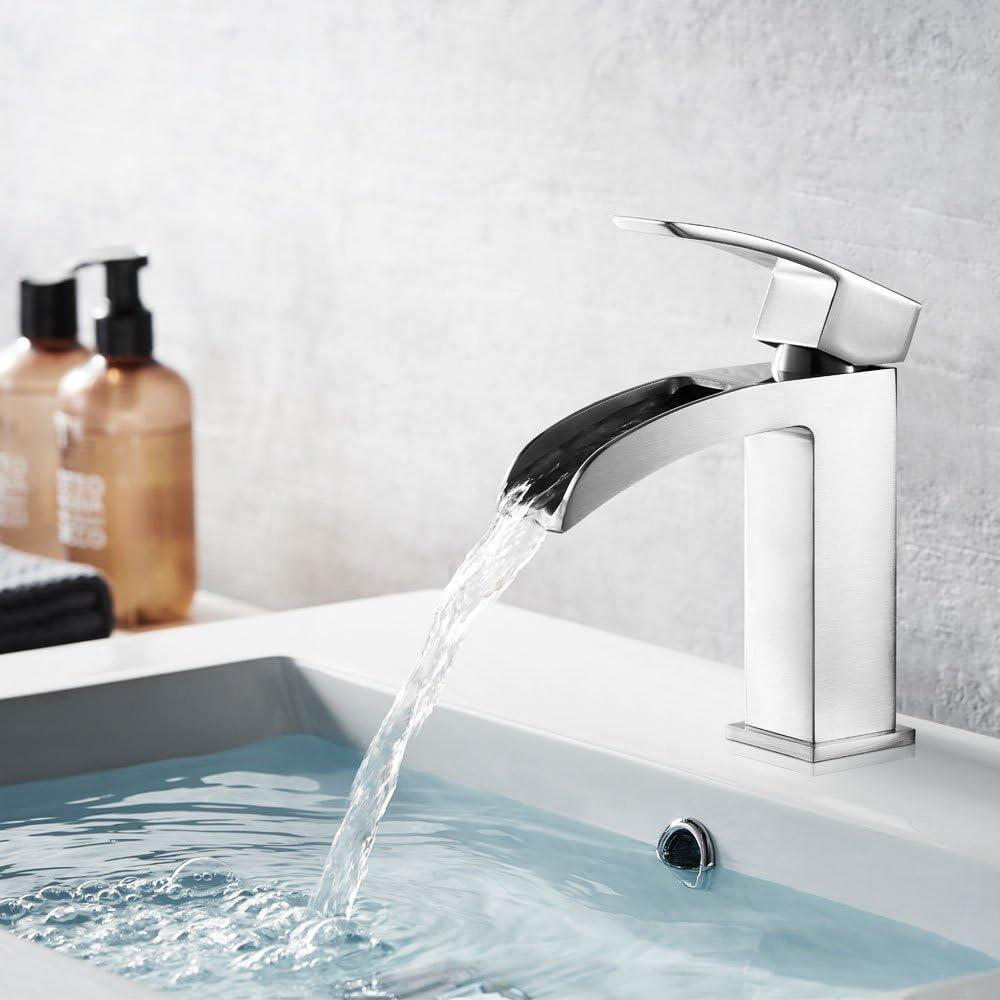 Satin Nickel Vinnova 102111-BAF-SN Liberty Single-Handle Basin Bathroom Faucet