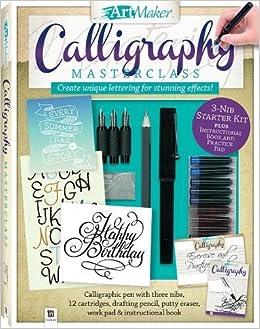 Buy Art Maker Calligraphy Masterclass Kit Portrait Book Online At