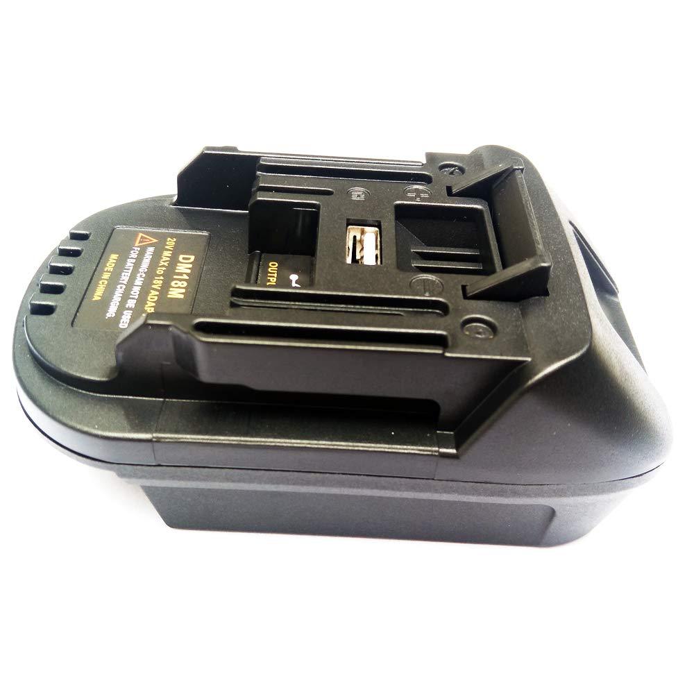 Battery Adapter DM18M for Dewalt 20V for Makita 18V Lithium BL1830 BL1840 BL1850 14.4V- 18V conversion