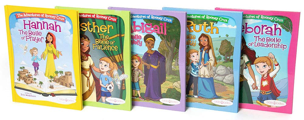 Bible Belles Christian Children's Book Set, The Adventures Of Rooney Cruz Bible Story Books, Age 4 – 10, Set Of 5