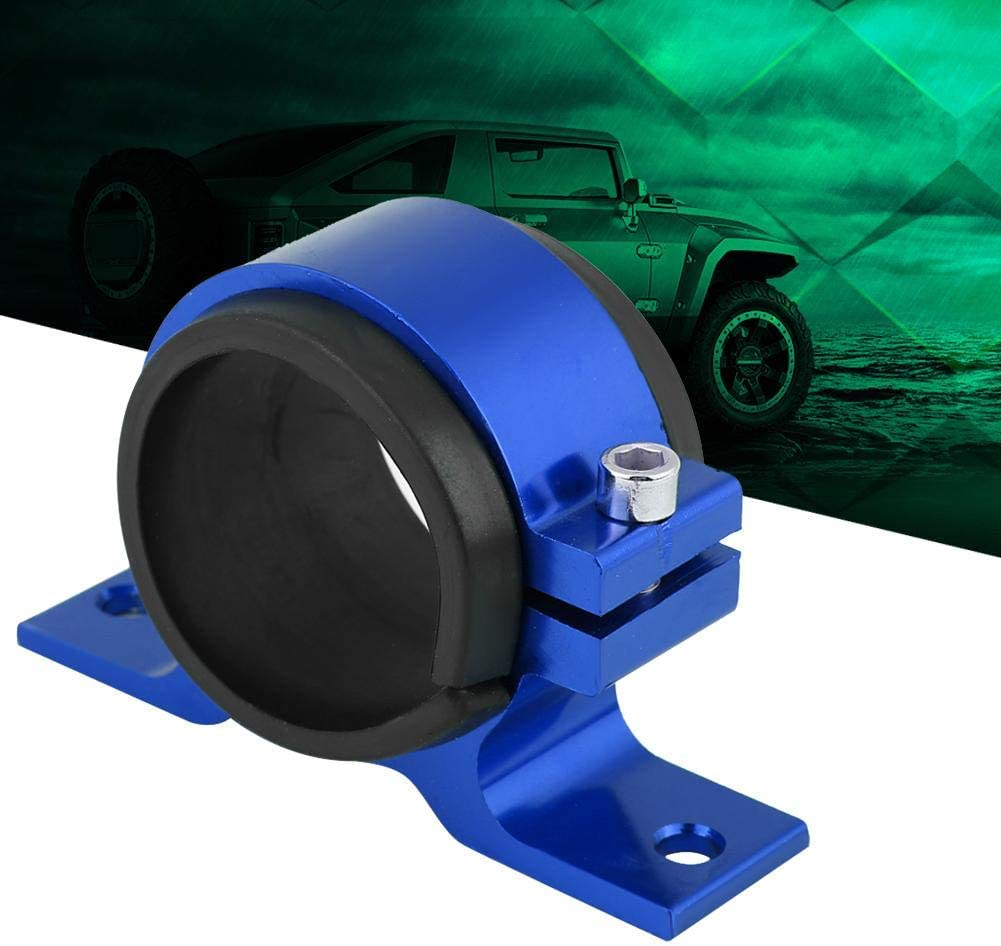 Blue KIMISS Aluminum Alloy 50mm Car Fuel Pump Mounting Bracket Single Filter Clamp Cradle
