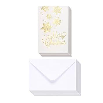 Amazoncom 48 Pack Merry Christmas Greeting Cards Bulk Box Set