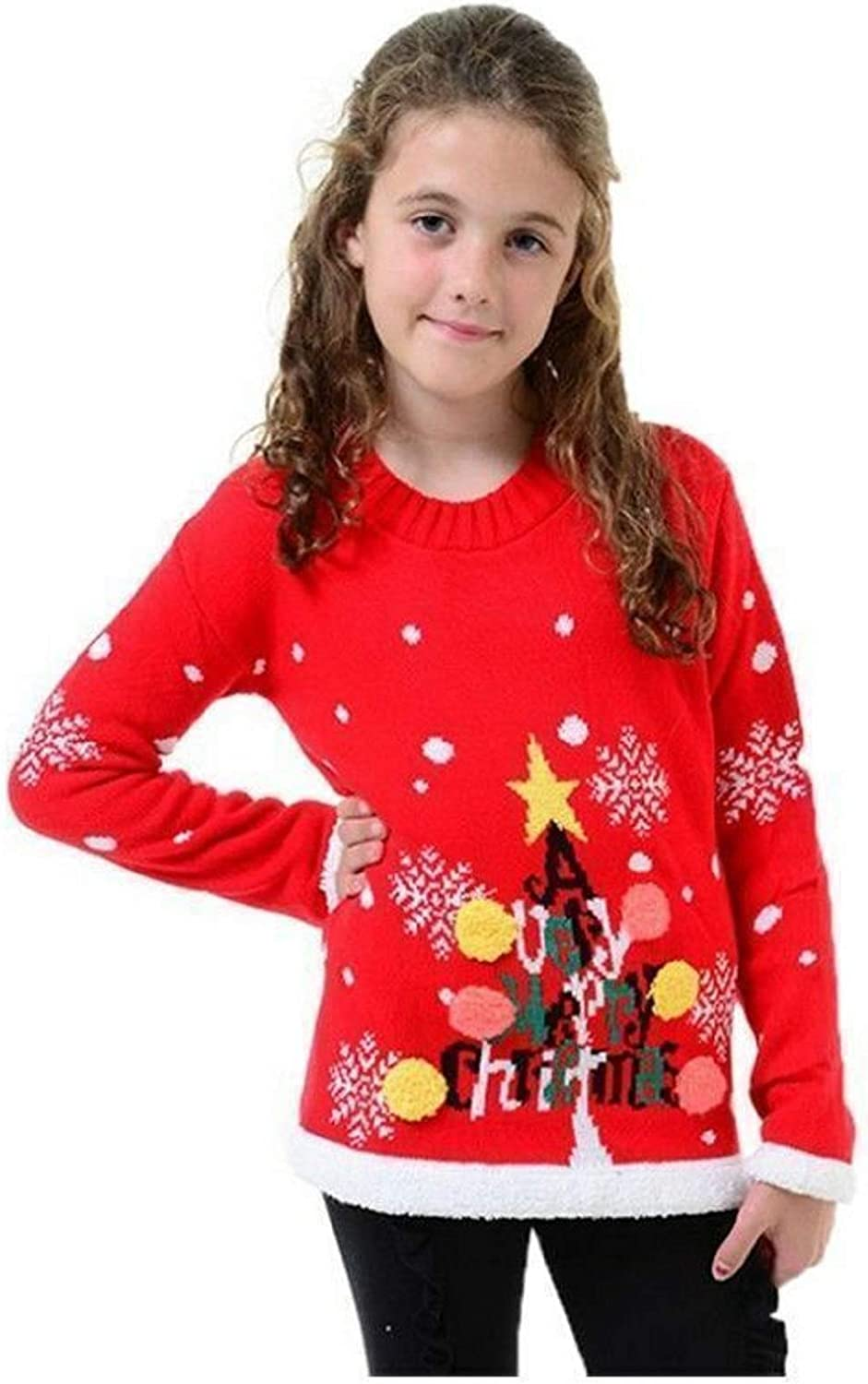 Kids Christmas Xmas Jumper Boys Sweater Girls Childrens New Retro Knitted Winter