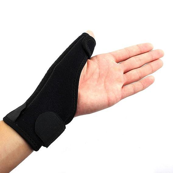 Amazon.com : eDealMax deportes al aire Libre, Ajustable Llave de muñeca, pulgar Estabilizador Wrap, abductor del guante izquierdo : Sports & Outdoors