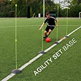 QuickPlay PRO 6.5lb Base Weights: Solid Rubber Agility Pole Base & Sports Weight (Set of 2) Agility Poles Sold Separately