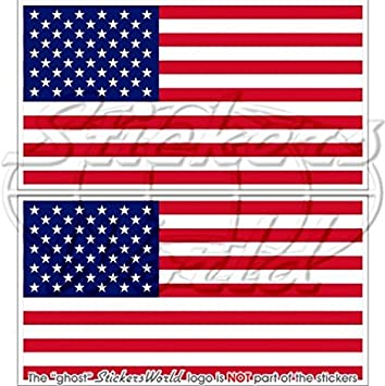 10x  Autocollant Sticker drapeau Etats Unis americain