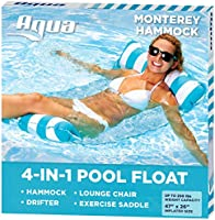 Aqua Leisure Monterey Hammock Pool Float, One Size, Blue