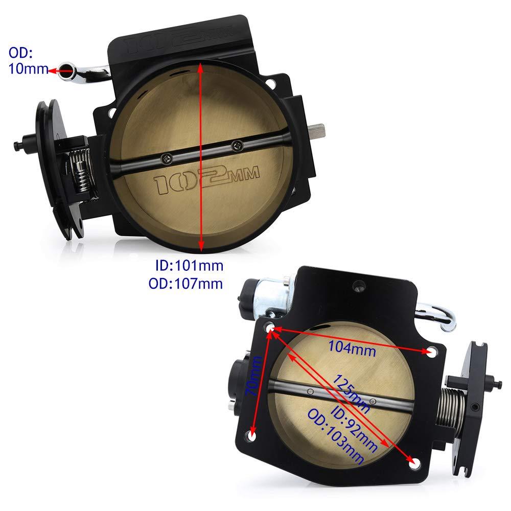 102mm Throttle Body TPS IAC Throttle Position Sensor For LSX LS LS1 LS2 LS7