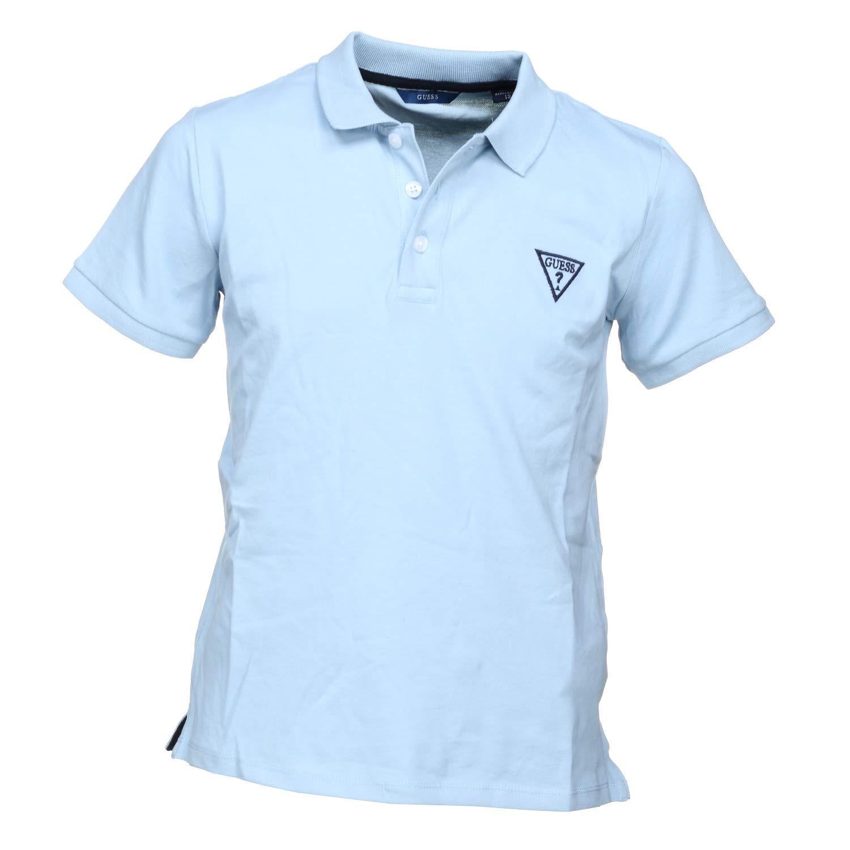 Guess Polo Gar/çon Logo Bleu L71p21