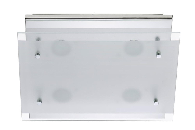 Trango LED lampada da soffitto plafoniera faretto lampada da bagno incl. 3000K Bianco caldo LED modulo direttamente 230V tg3181 [Classe di efficienza energetica A+]