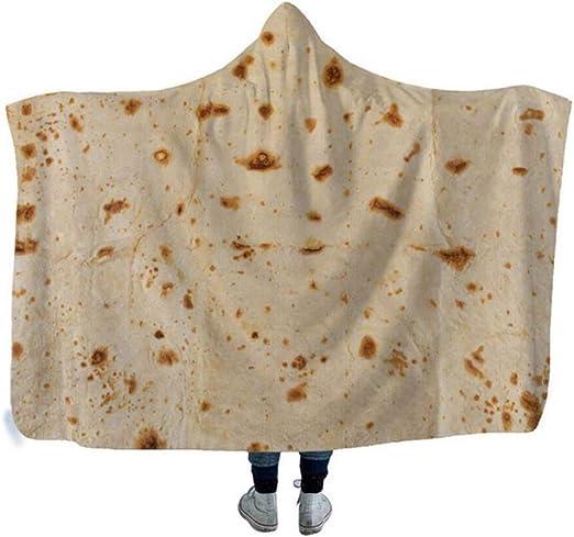 Adults Burrito Blanket Throw Tortilla Fleece Flannel Texture Throw Kids Blanket