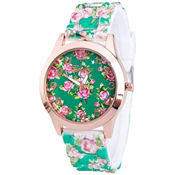 Zedo Relojes Mujer Reloj Pulsera Mujer Relojes de Mujer Reloj señora Reloj de Mujer Reloj Mujer Reloj Chica Reloj analogico Correa de Flores de Estilo ...