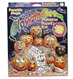 Glow In The Dark Pumpkin Jack O Lantern Decorating Paint Kit - Includes 81 Stencils & 7 Paints
