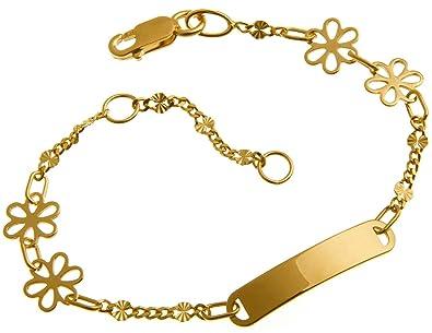 Stufen von Großhandel Kauf echt Baby Gravurarmband, ID Armband, Kinderarmband 585 Gold, inkl. Gravur, Länge  14cm