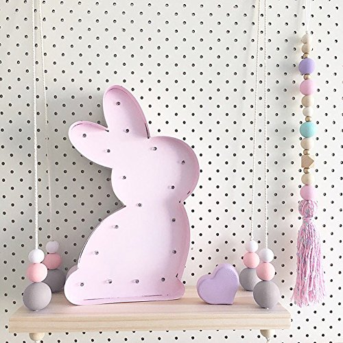 preliked Lovely Wall Rope Hanging Wooden Rack Bead Tassel Storage Shelf Home Kid's Room Decor by preliked (Image #4)
