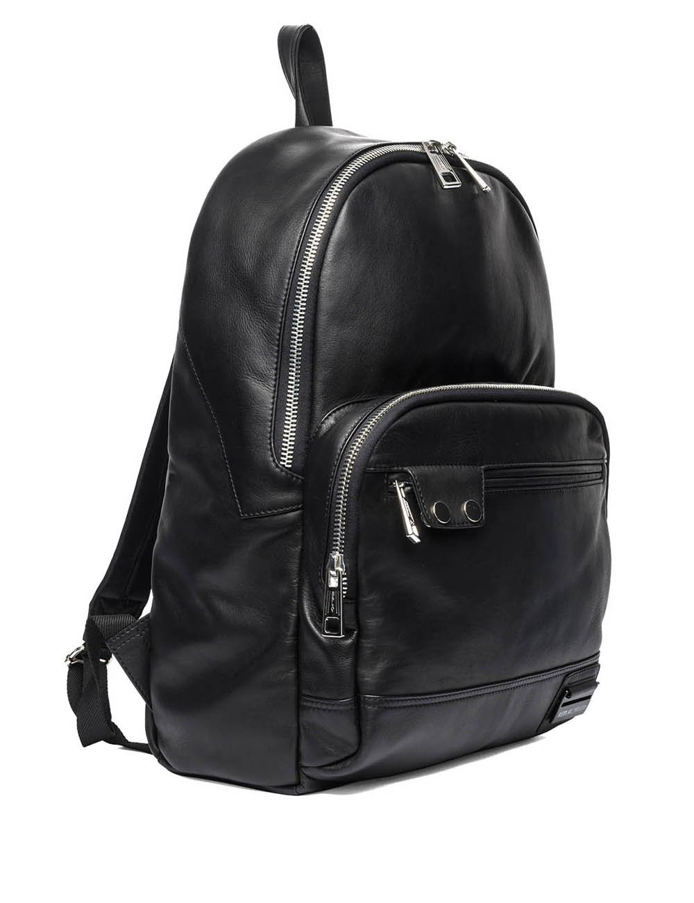 Replay Men's Leather Black Backpack