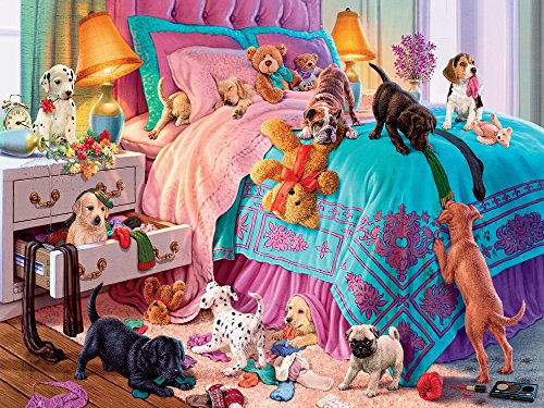 Ceaco Perfect Piece Count Puzzle - Naughty Puppies