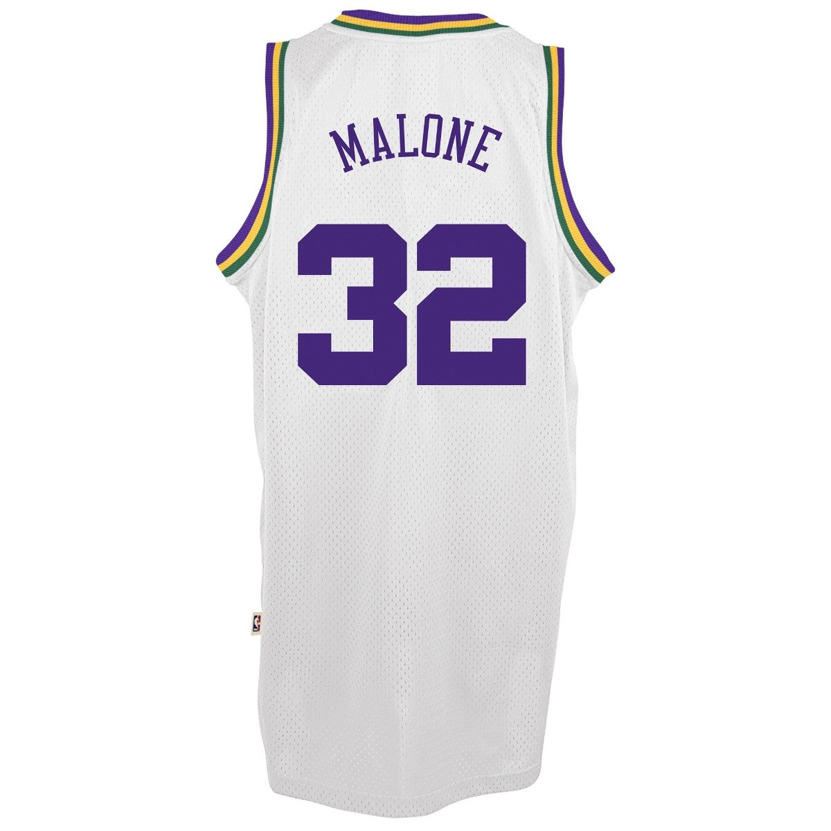 ... Sports Collectibles Store Karl Malone Utah Jazz Adidas NBA Throwback  Swingman Jersey - White Amazon.co.uk ... b44af90c5