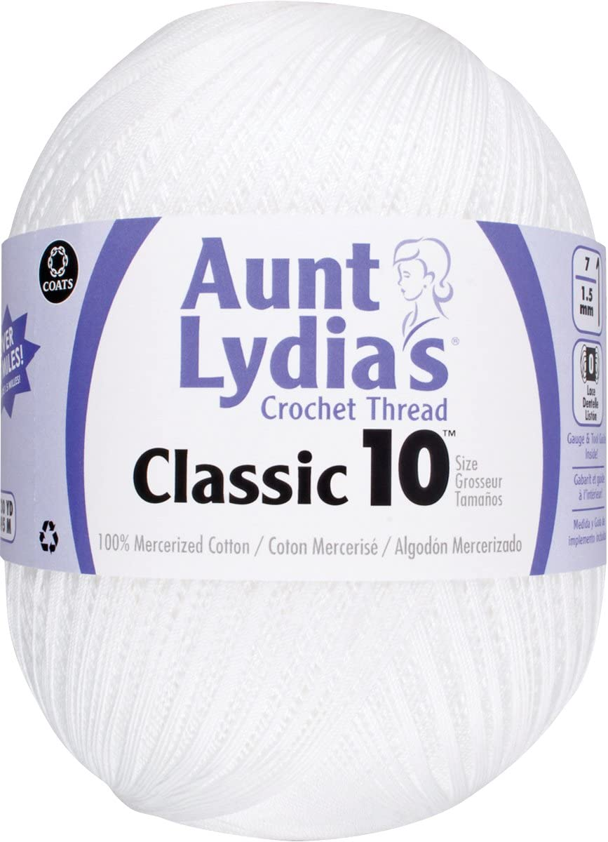 B000WV866W Aunt Lydia Jumbo Crochet Cotton, White 61kfhchOvML