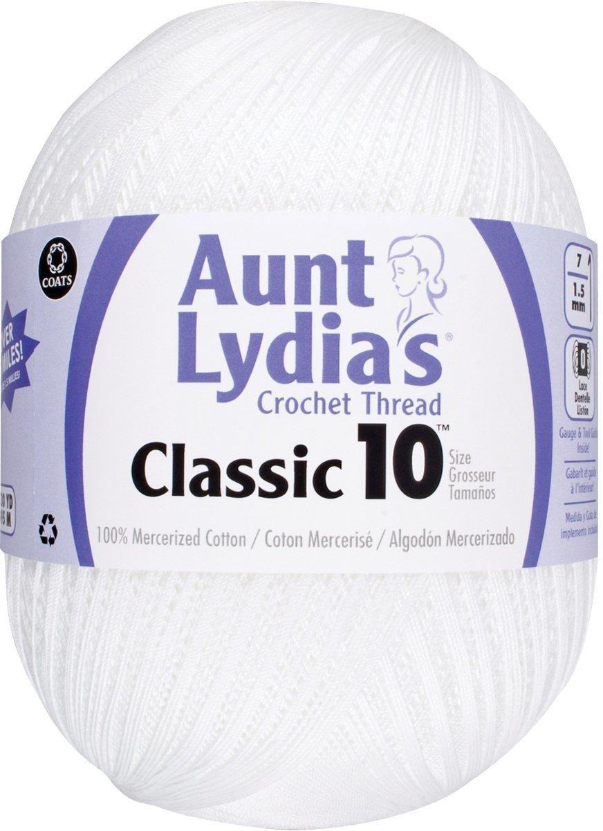 Aunt Lydia Jumbo Crochet Cotton, White 153.0201